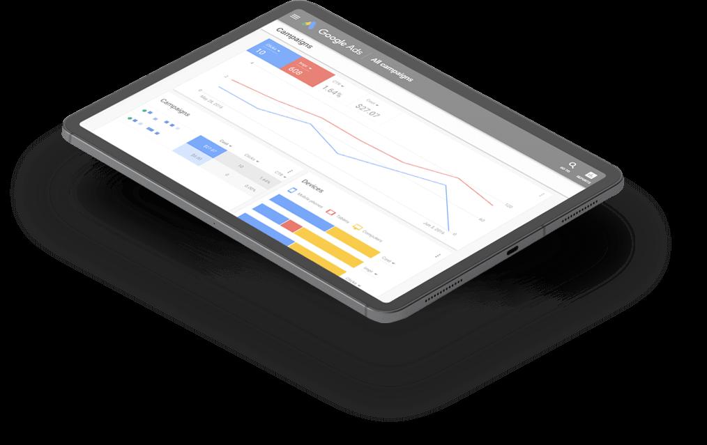 Google ADS Yanınızda Tablet Görseli